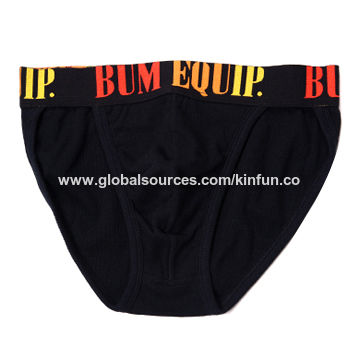 China Men's briefs with jacquard elastic on waistband