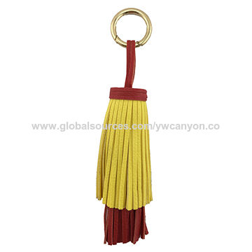 China 2016 fashion women's PU leather tassel with king ring for decoration