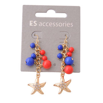 China Fashion drop earrings with starfish pendant