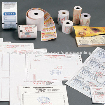 China Continuous-feed computer paper form, customized print and design
