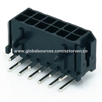 China ATX Power Connectors 3 0mm Pitch PCB Mount Right Angle