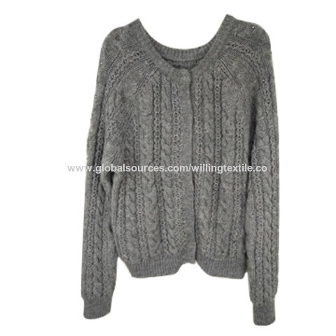 China Ladies' knitted sweater with fashion style