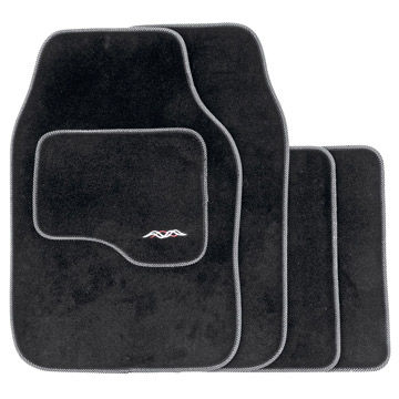 China Deep Pile Universal Carpet Super Deluxe Car Mats----Black
