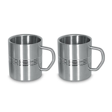 India Double Wall Mug, Made of Stainless Steel