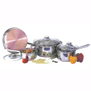 India Stainless Steel Cookware Set, Available in 7 Pieces