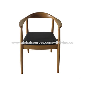 China Upholstered dining chair,PU leather with beech solid wood frame