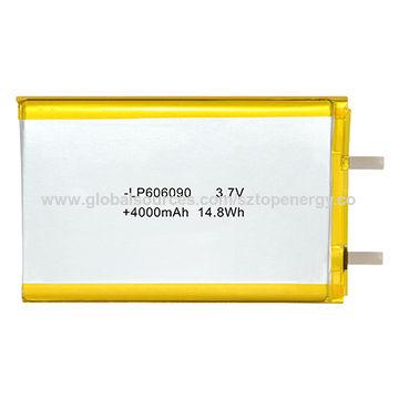 3.7V Li-Po battery 4000mAh Lithium-polymer battery for power bank, BIS certified