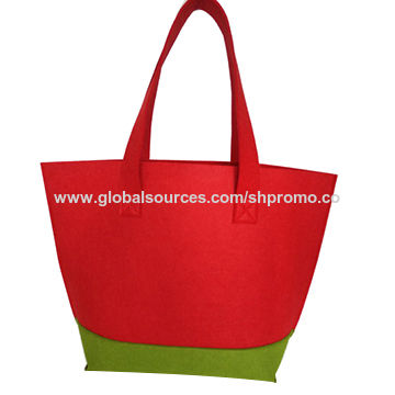 China Promotional handle bag made of felt, any size and design are available