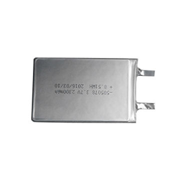 China 505078 2300mAh 3.7V Lithium Polymer Battery with UL Certified