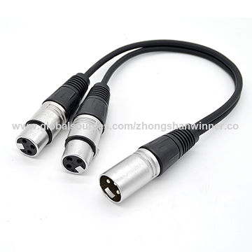 China 3-pin XLR Y Splitter Cable Male to 2 DMX Cable ... on