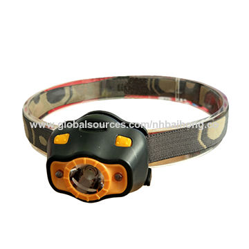 China 3W LED Head Lamp with 2 Red LED Powered by 3xAAA Batteries