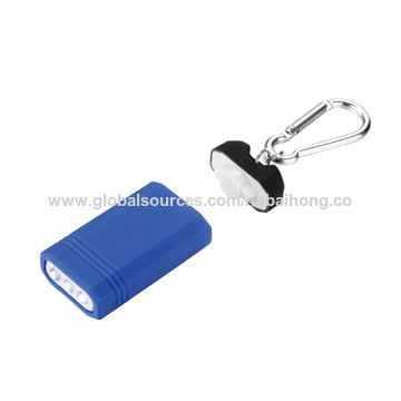 China Innovative Magnet Control LED Keychain with Flashlight and Carabiner Included