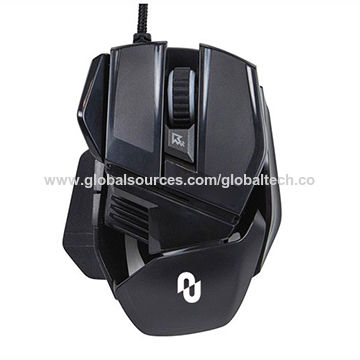 China Full speed illuminated gaming mouse with adjustable sensor rate