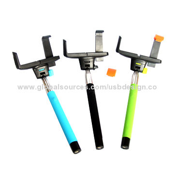 China Selfie stick with Bluetooth, supports wireless remote control