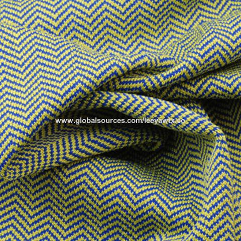Taiwan Antibacterial/Wicking Yarn Dye Vertical Herringbone Fabric, in 94% Poly and 6% Spandex