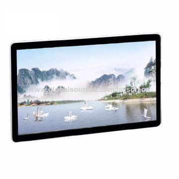 32-inch Wall-mounted AD Player with Scrolling Screen, Touch Screen Kiosk Advertising Player