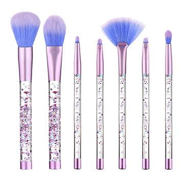 China Acrylic Floating Glitter Makeup Brush Set