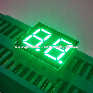 Dual-digit 7-segment LED Display with 0.36-inch Height, Used in Numeric Displays