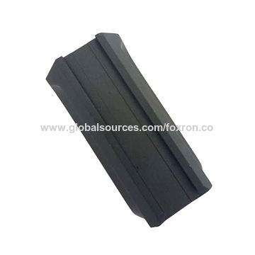 CNC precision machined part with black anodizing