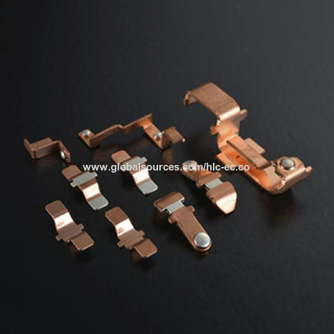 China Stamping Part, Customized Designed Screws, Riveting and Welding with Silver Contact