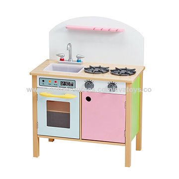 China New Design Children Miniature Wooden Play Kitchen Sets For Sale  W10C330 ...