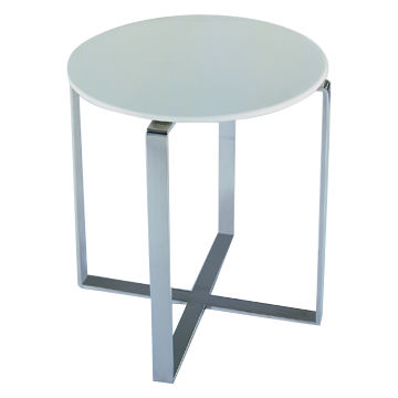 Taiwan Rosa Marble Side Table, White Top