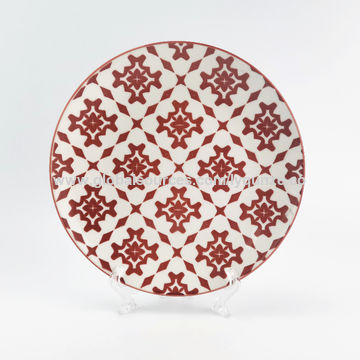 China Wholesale high quality white porcelain flat ceramic plate for ...