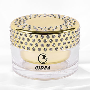 China 100g Electroplated Bright Gold Diamond Cosmetic Cream Jars Short Delivery Time