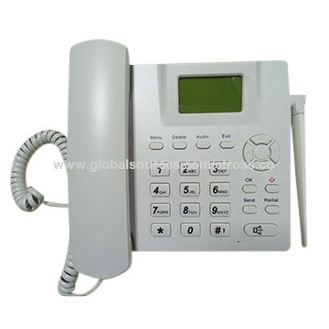 China 3G GSM Phone GSM Desktop Phone with Removable TNC Antenna/1 SIM Slot