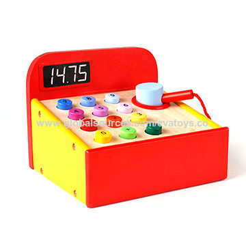 China Wooden Pretend Play Toy Cash Register From Wenzhou Wholesaler