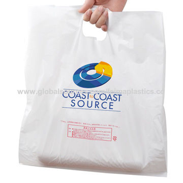 China Hdpe Printed Ping Bag Carry Plastic