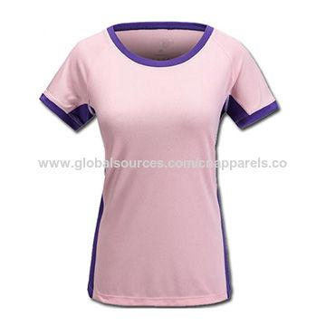 Ladies' sports T-shirts, quick dry sports tops