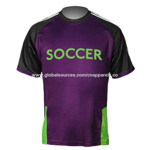 aa6da71e0 China Men' sublimation printing soccer jersey, custom moisture -  wicking fabric football ...