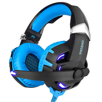 Computer Headphones Gaming Headset with Mic/Rechargeable Battery for X-box One