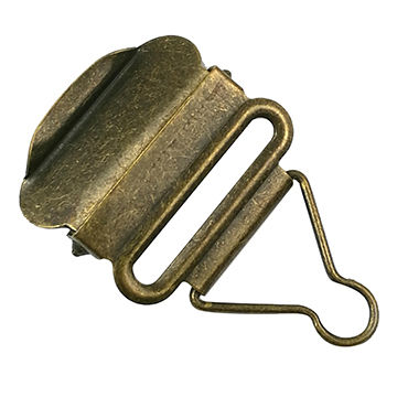 Taiwan Antique Brass Suspender Clips, Suitable for Garments