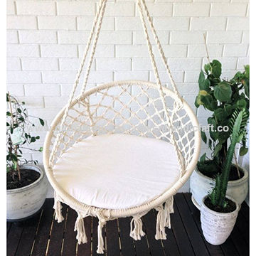 Awesome India Handmade Macrame Hammock Chair Cotton Woven Hammock Gmtry Best Dining Table And Chair Ideas Images Gmtryco
