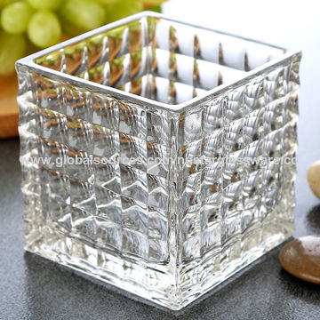 China 4 5 6 Square Glass Vase From Qingdao Wholesaler
