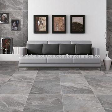 China 30 120cm Dark Grey Breccia Marble