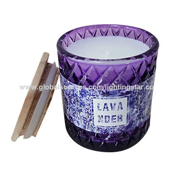 China Glass Candles Home Fragrance Gifts Candle Relax Candles 25 Hours Burning Time Violet