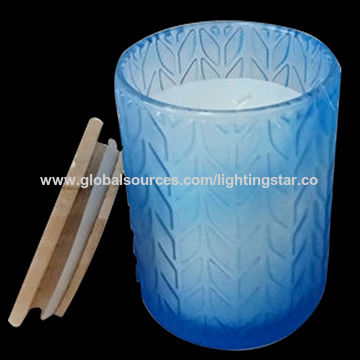 China Glass Candles Home Fragrance Gifts Candle Relax Candles 25 Hours Burning Time Blue
