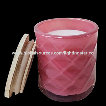 China Glass Candles Home Fragrance Gifts Candle Relax Candles 25 Hours Burning Time Red