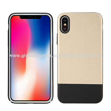 Ultra thin biocolor PU+PC mobile phone case for iPhone X