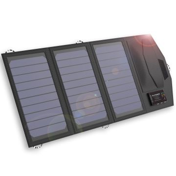 China Allpowers 15W Solar Panel Charger with 6000mAh Battery, foldable solar charger,Exclusive Solar Batte