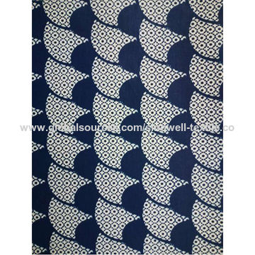 Cotton African Batik Monochrome Real Wax Print Fabric