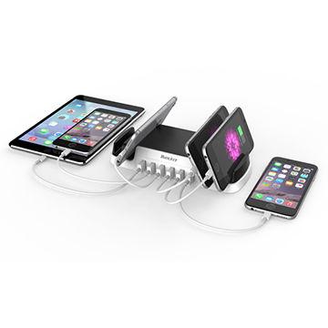 China Huntkey 6-port USB Charging Station Dock & Organizer for Smartphones, Tablets & Other Gadgets
