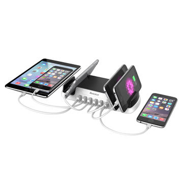 China 6-outlets USB Charging Station Cell Phone Charging Station