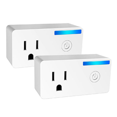 2 Pack 16A Mini WiFi Smart Plug Works with Amazon Alexa Echo, Google Home and IFTTT