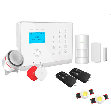China Wireless APP Control 3G GSM Home Alarm System with Touch Keypad , RFID and Text LCD Display