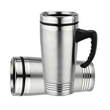 China Double Wall Promotional Stainless Steel Coffee Travel Mug With Handle 16oz