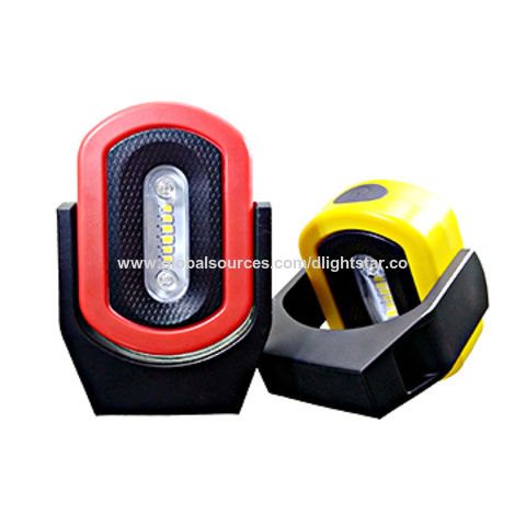 Led Rechargeable Magnet Work Light With Red Blue Warning Function
